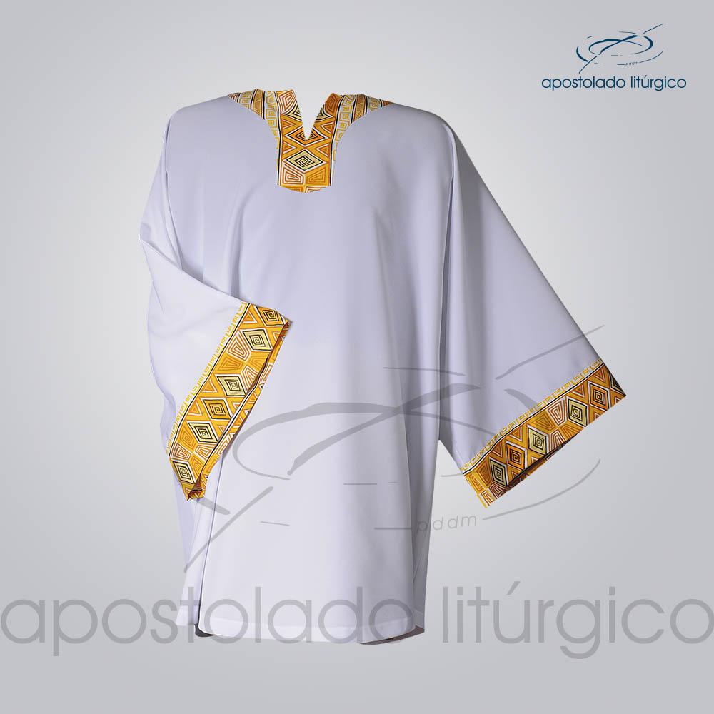 Veste Aplique 9 Gola e Manga Branca COD 3834 | Apostolado Litúrgico Brasil