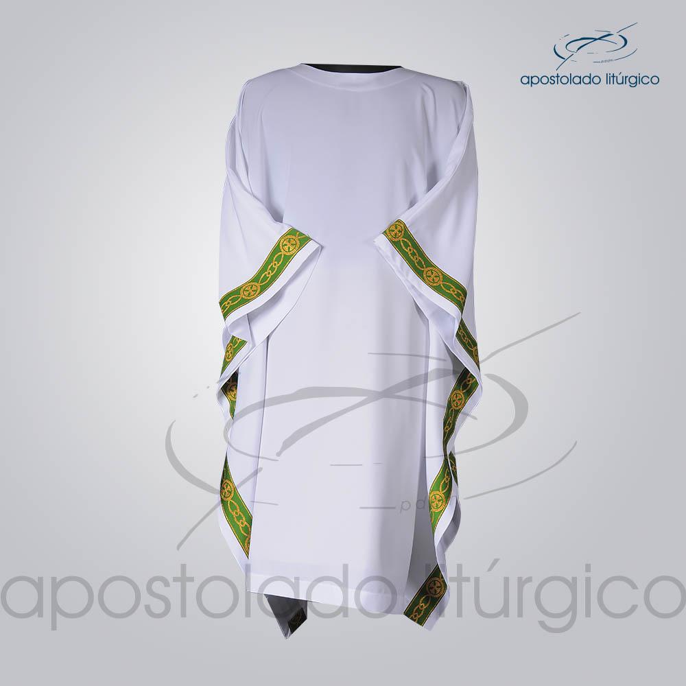 Veste Galao Estreito 11 Verde Arredondado Branca Frente COD 3362 | Apostolado Litúrgico Brasil