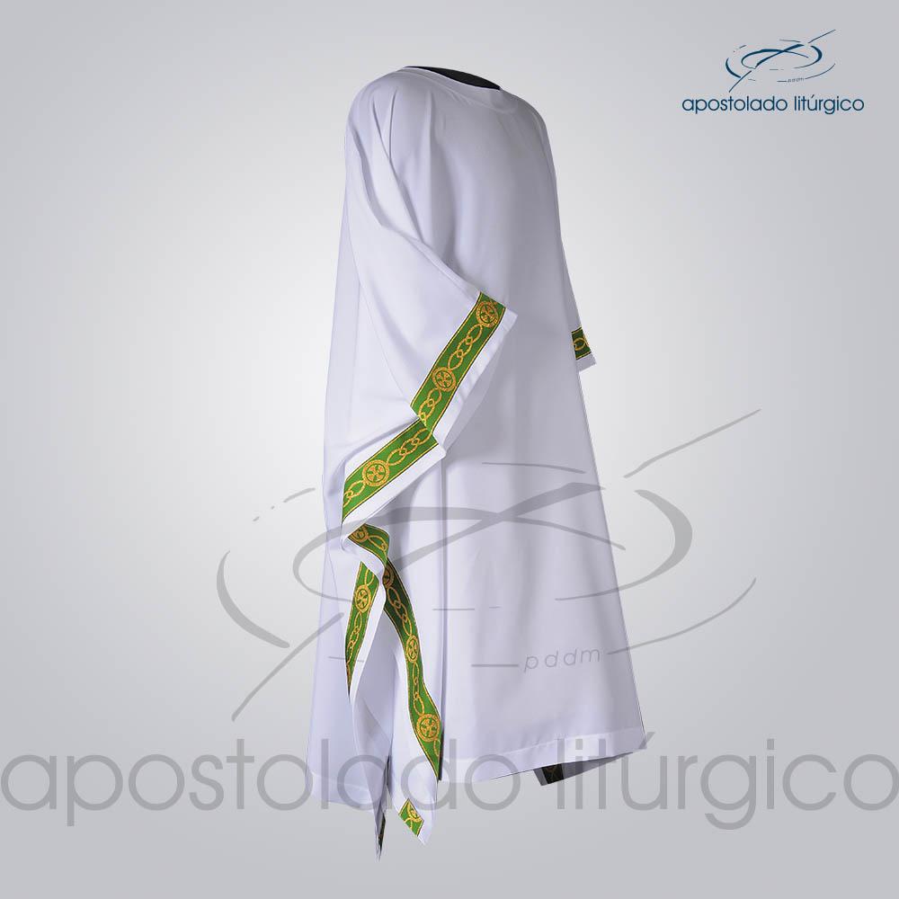 Veste Galao Estreito 11 Verde Arredondado Branca Lateral COD 3362 | Apostolado Litúrgico Brasil