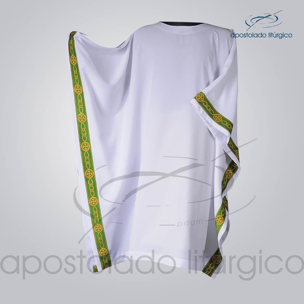 Veste Galao Estreito 11 Verde Arredondado Branca Manga Frente COD 3362 | Apostolado Litúrgico Brasil