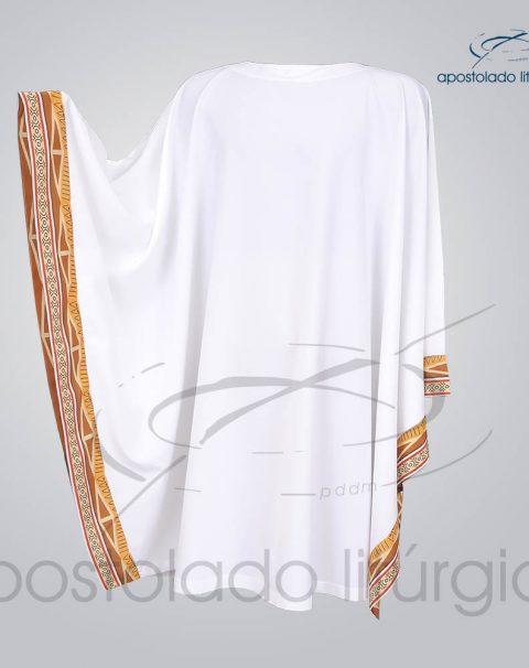 Veste Poncho Aplique 13 Arredondada Branca – COD 1804