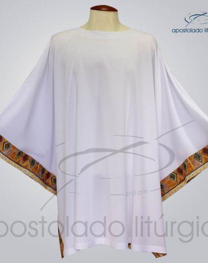 Veste Poncho Aplique 9 Arredondada Branca - COD 1804