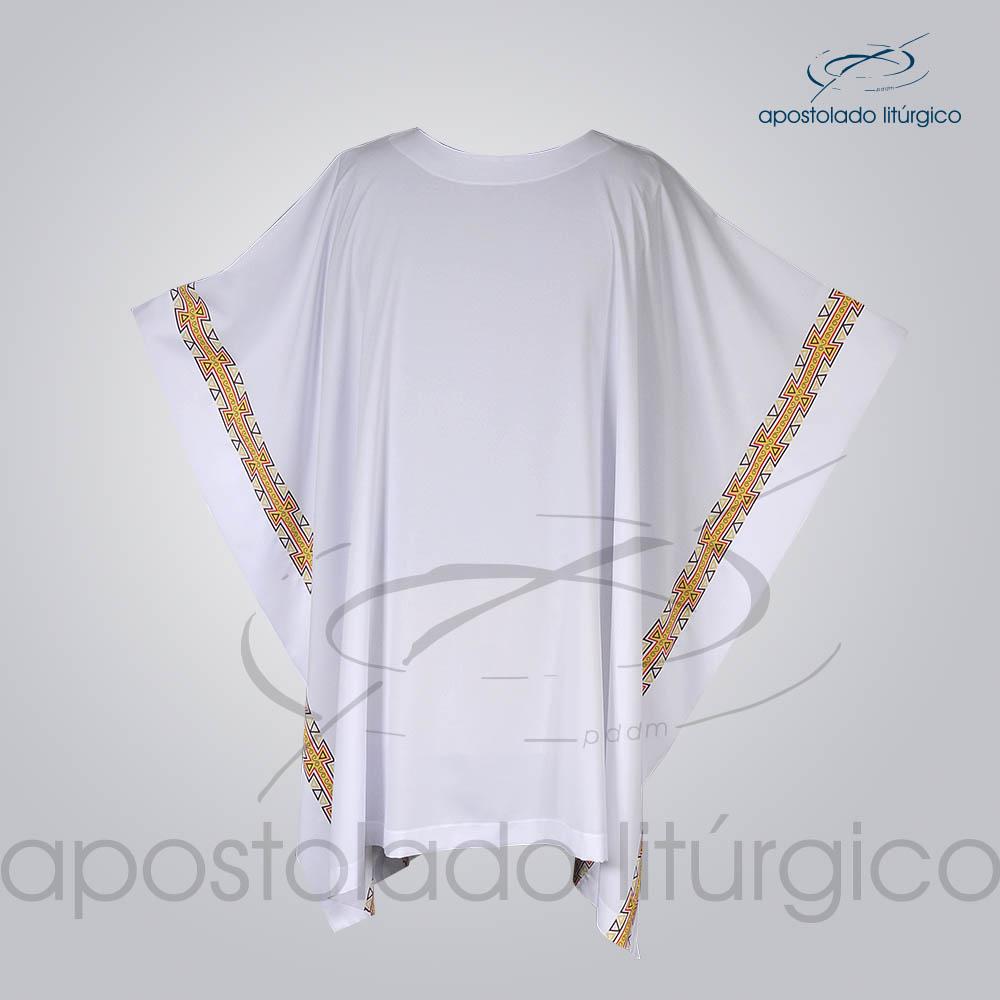 Veste com 2 Estampas Grega Branca Frente COD 3861 | Apostolado Litúrgico Brasil