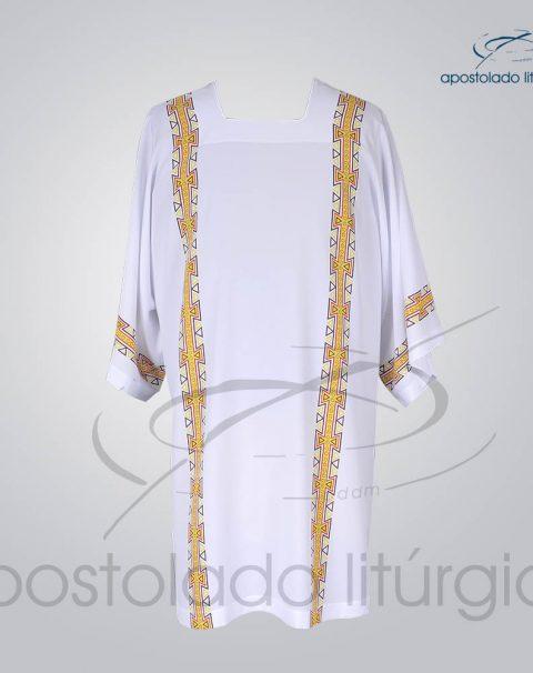 Veste com 4 Estampas Grega Branca Frente – COD 3860