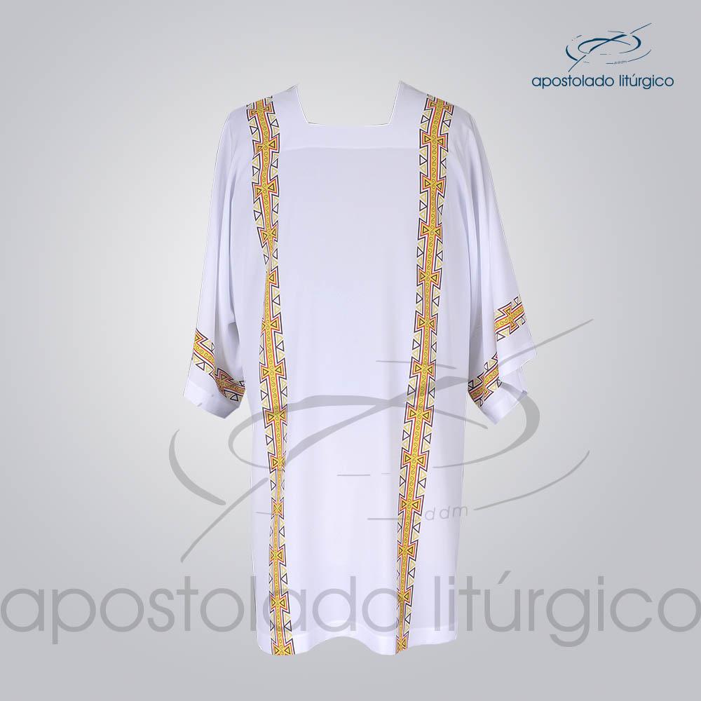 Veste com 4 Estampas Grega Branca Frente COD 3860 | Apostolado Litúrgico Brasil