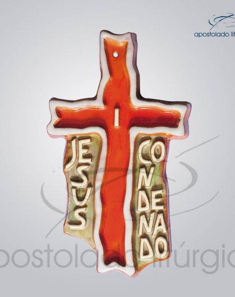 Via Sacra Cruz Frase 28x17cm 1 Estacao – COD 2085