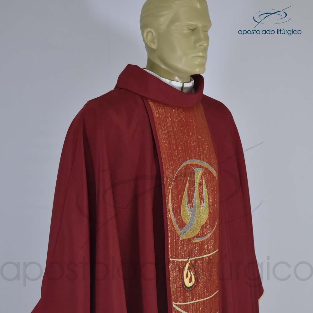 Casula Espírito Santo Vermelha Galão Solto
