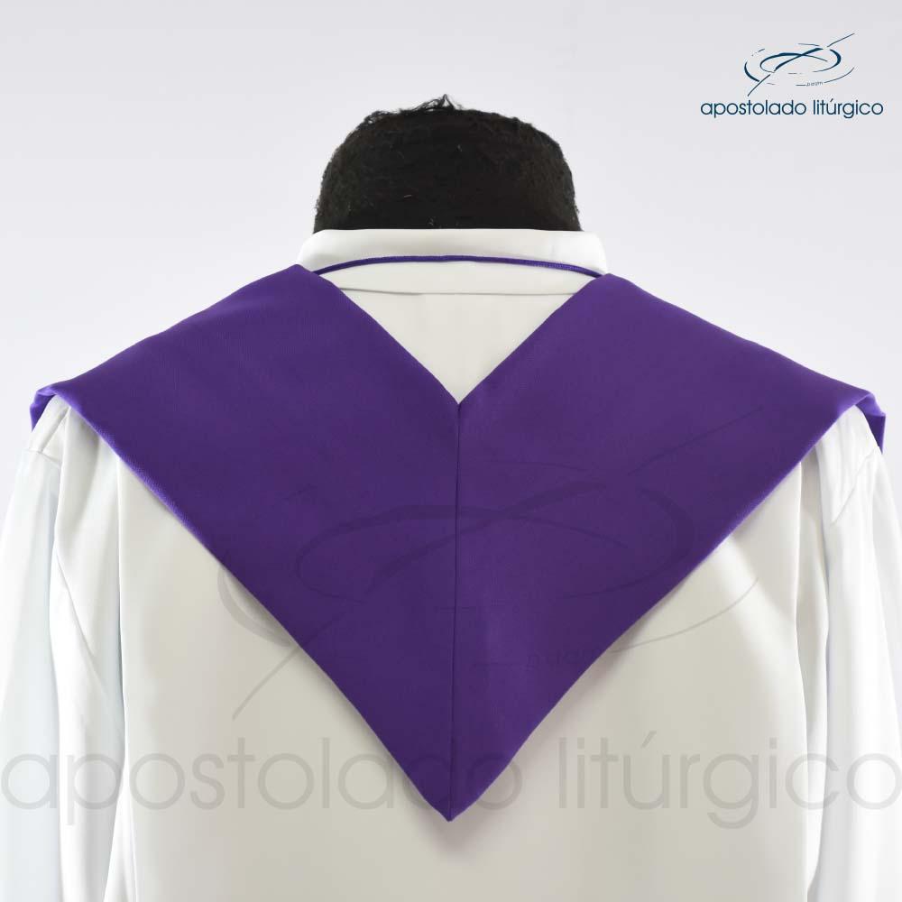 Estola Presbiteral Oxford Bordado Cruz Vida