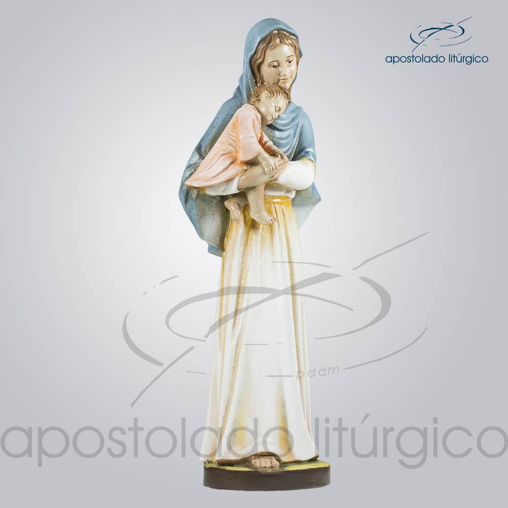 Imagem Maria com Menino 30cm Frente Diagonal Direita | Apostolado Litúrgico Brasil