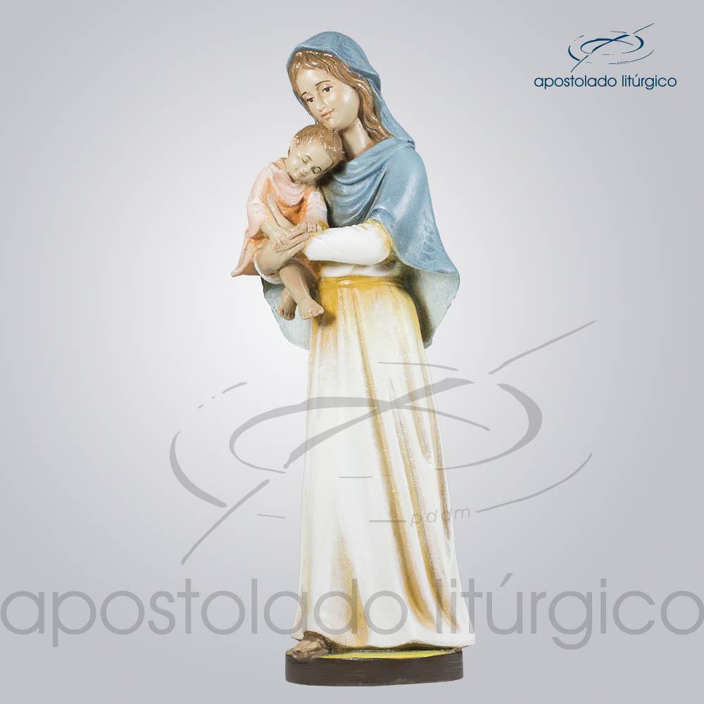 Imagem Maria com Menino 30cm Frente Diagonal Esquerda | Apostolado Litúrgico Brasil