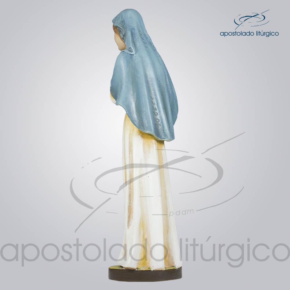 Imagem Maria com Menino 30cm Lateral Diagonal Esquerda | Apostolado Litúrgico Brasil