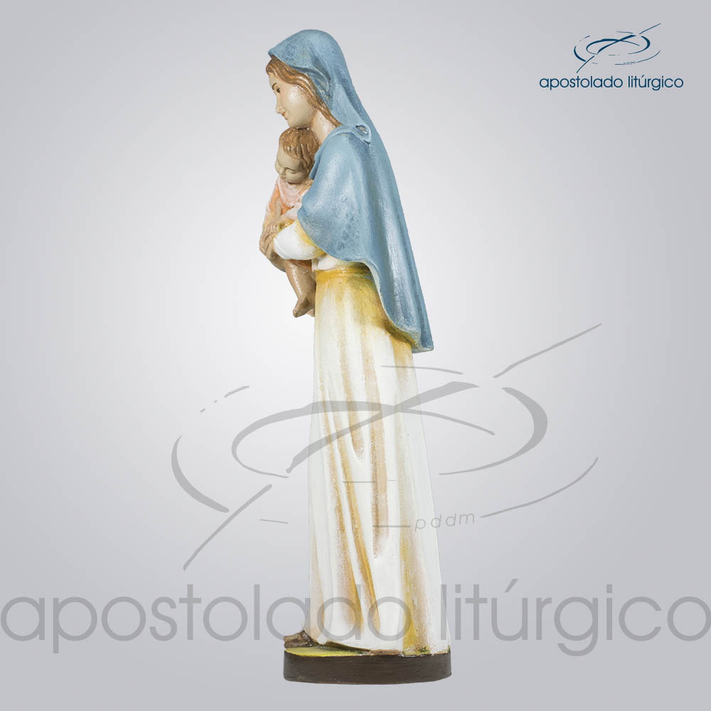 Imagem Maria com Menino 30cm Lateral Esquerda | Apostolado Litúrgico Brasil