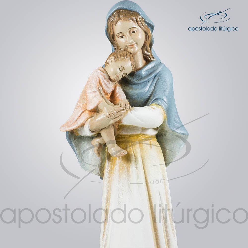 Imagem Maria com Menino 30cm Parte Superior | Apostolado Litúrgico Brasil
