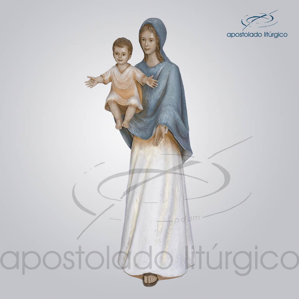 Imagem Maria do Sorriso 88cm COD4059 | Apostolado Litúrgico Brasil