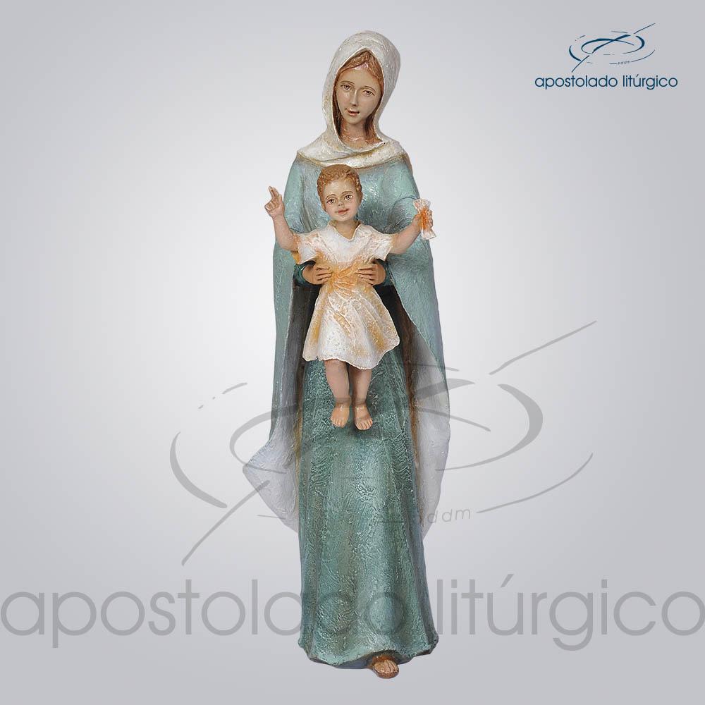 Imagem Rainha dos Apostolos 40cm Frente | Apostolado Litúrgico Brasil