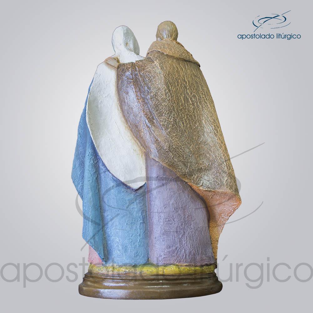 Imagem Sagrada Familia 40cm Costas Jose e Maria | Apostolado Litúrgico Brasil