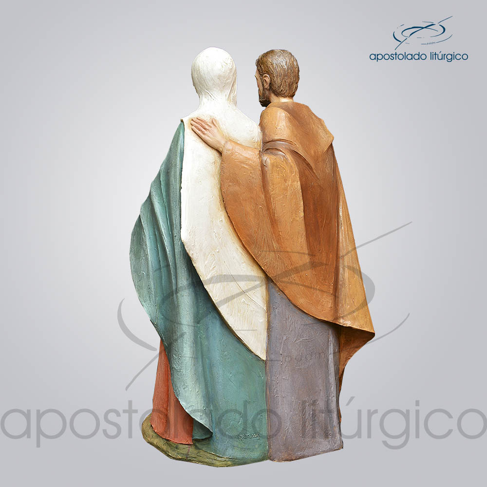 Imagem Sagrada Familia Fibra 100cm Costas COD 4034 | Apostolado Litúrgico Brasil