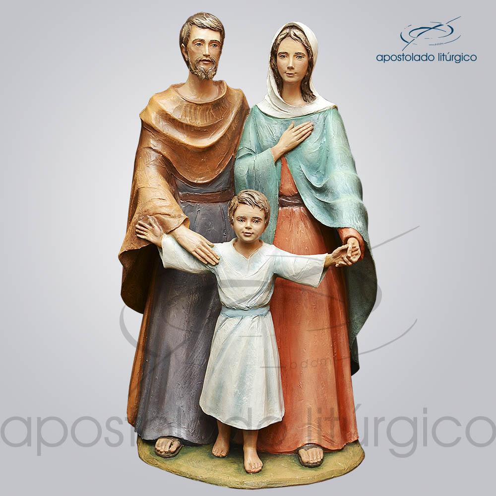 Imagem Sagrada Familia Fibra 100cm Frente