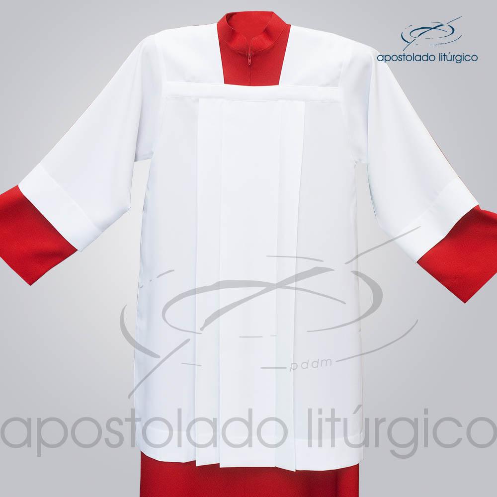 Sobrepeliz para Acolito Frente Aberto COD 3091 | Apostolado Litúrgico Brasil