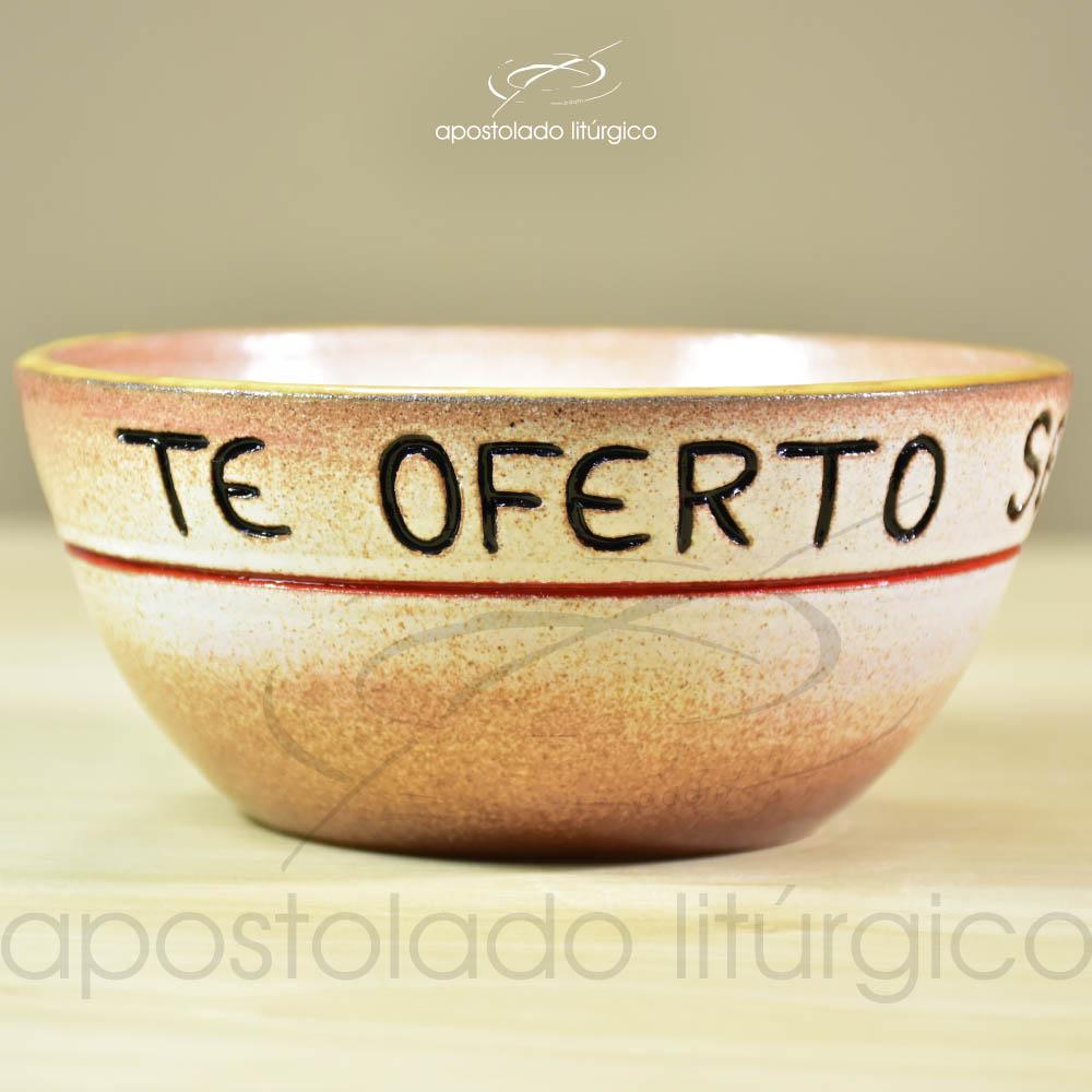 Tigela Te Oferto Senhor 14cm Lateral - COD 2247