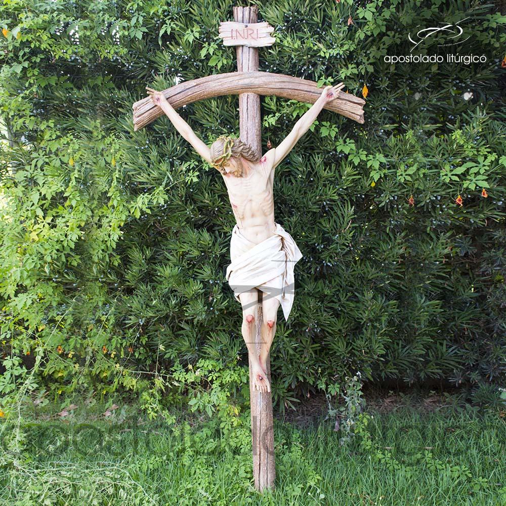 Imagem Cristo Crucificado 1 MT Cruz 2 MT Frente COD 4188 1 | Apostolado Litúrgico Brasil