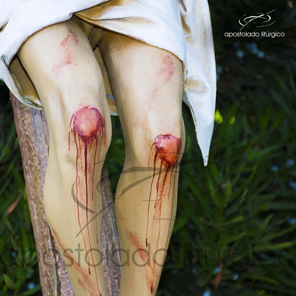 Imagem Cristo Crucificado 1 MT Cruz 2 MT joelhos COD 4188 | Apostolado Litúrgico Brasil
