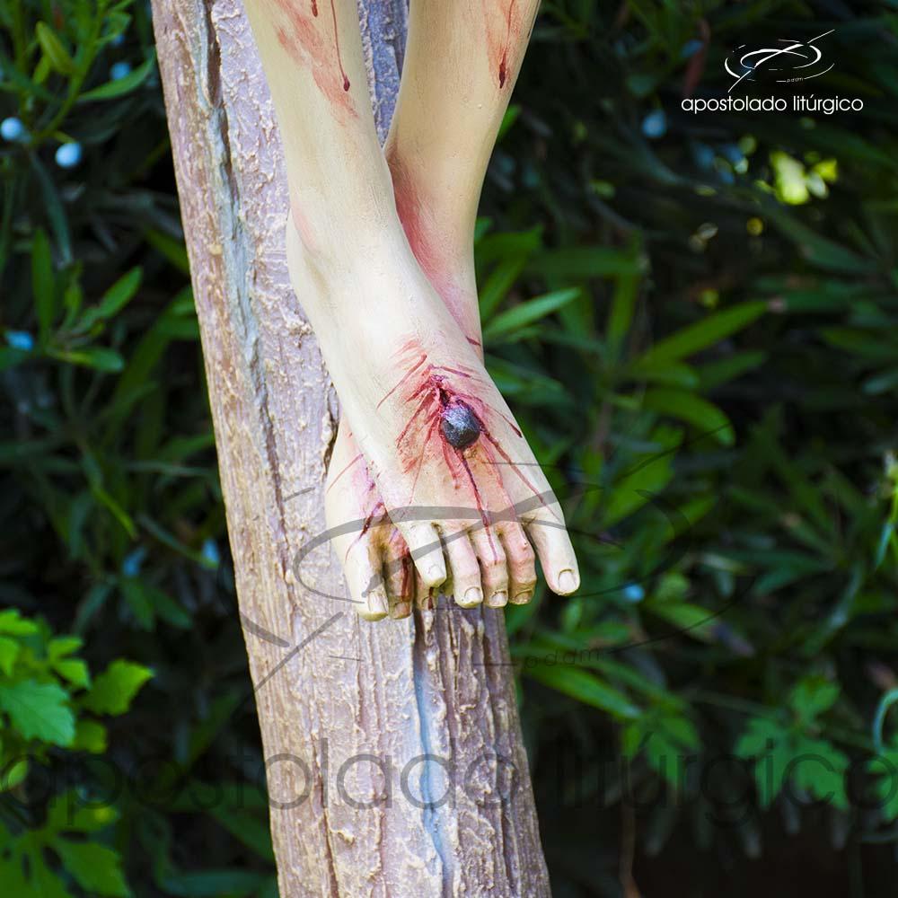 Imagem Cristo Crucificado 1 MT Cruz 2 MT pes COD 4188 | Apostolado Litúrgico Brasil