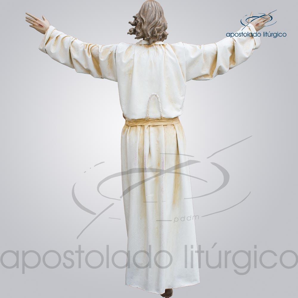 Imagem Cristo Ressucitado com tunica 180 cm costas COD 4206 | Apostolado Litúrgico Brasil