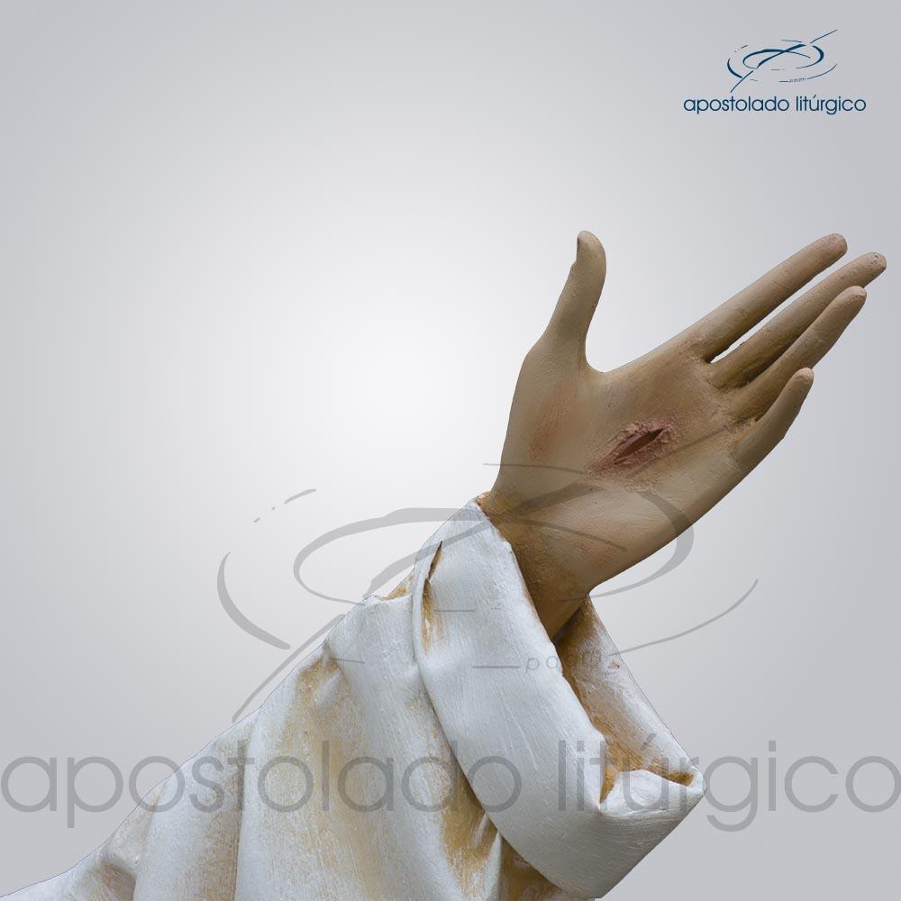 Imagem Cristo Ressucitado com tunica 180 cm maos COD 4206 | Apostolado Litúrgico Brasil