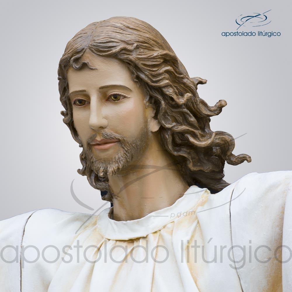 Imagem Cristo Ressucitado com tunica 180 cm rosto COD 4206 | Apostolado Litúrgico Brasil
