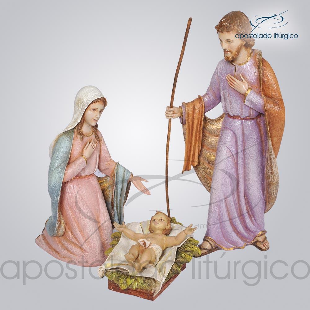 Imagem Sagrada Família do Natal 35 cm COD 4221 | Apostolado Litúrgico Brasil