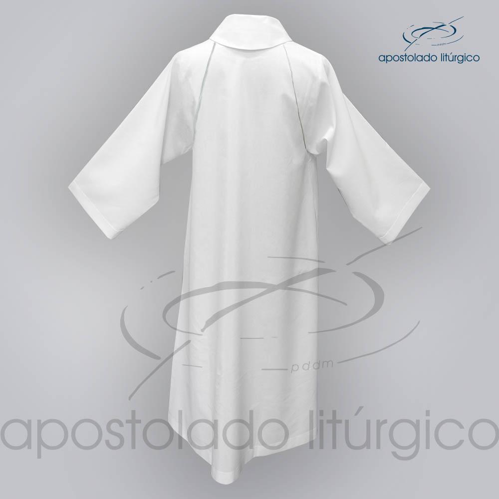 Tunica Monacal Raglan Branca Costas COD | Apostolado Litúrgico Brasil