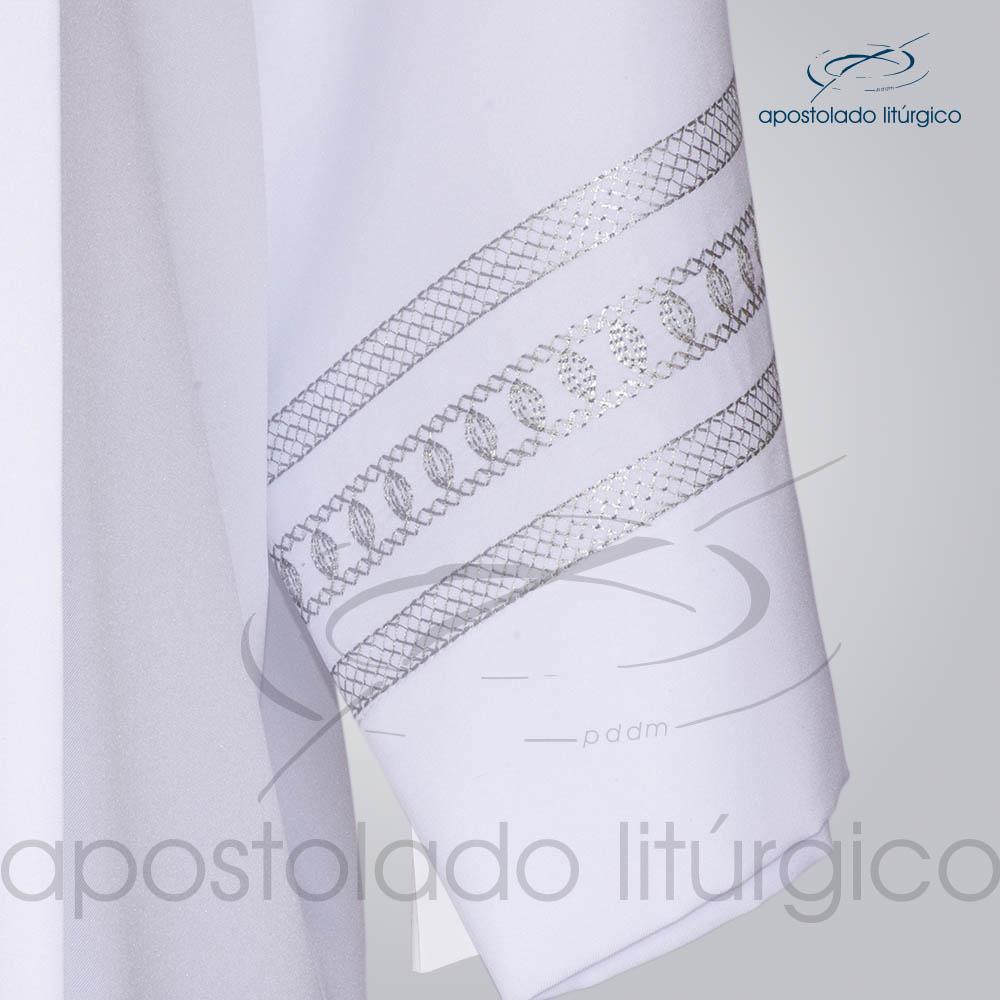 Tunica Pregao Tecido Inteligente Bordado 1 Cinza Manga Bordado COD 03260 0000 | Apostolado Litúrgico Brasil