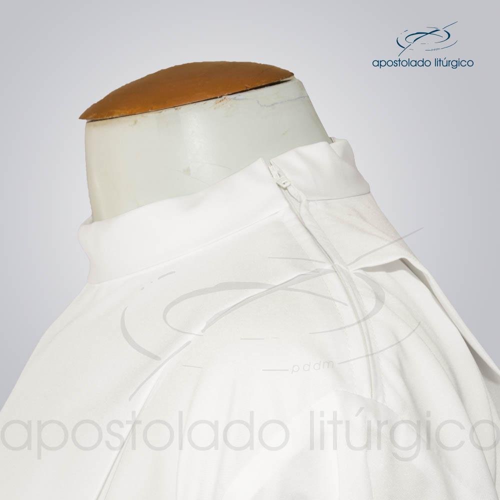 Túnica Tecido Inteligente Pregão Ziper no Ombro Pérola Ombro