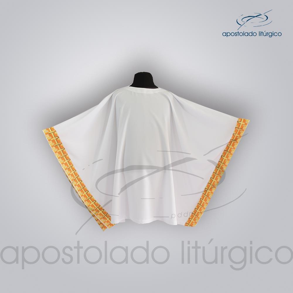 Veste Aplique 19 Arredondada frente | Apostolado Litúrgico Brasil