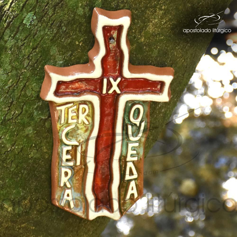 Via Sacra Cruz Frase 28x17cm 9ª Estação - COD 2085