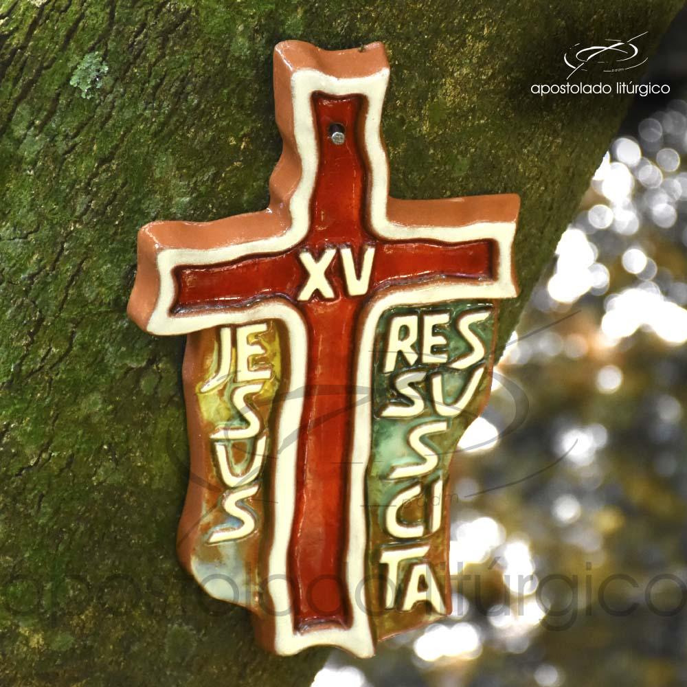 Via Sacra Cruz Frase 28x17cm 15ª Estação - COD 2085