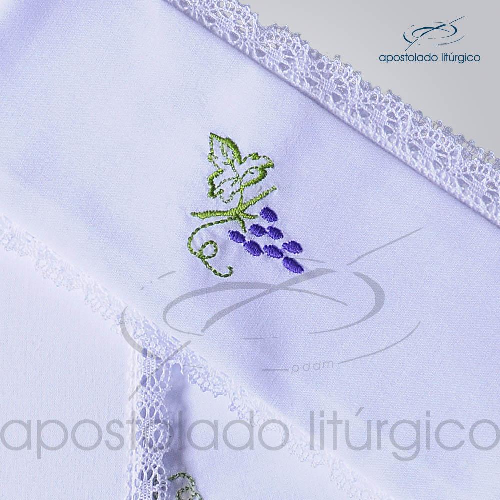 Conjunto de Altar Algodao Bordado Uva Dezenho COD 01751 0002 | Apostolado Litúrgico Brasil