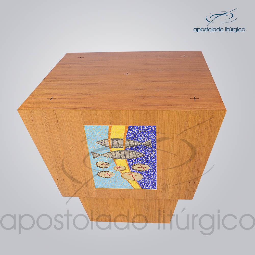 4230 Altar Mosaico Peixe Pao 90x90x90 cm 2 | Apostolado Litúrgico Brasil
