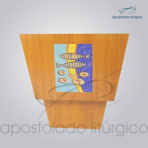 4230 – Altar Mosaico Peixe Pao 90x90x90 cm