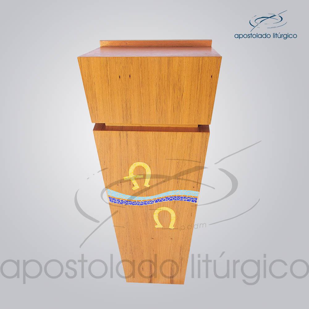 4231 Ambao Mosaico Alfa e Omega 118x32x40 cm 2   Apostolado Litúrgico Brasil
