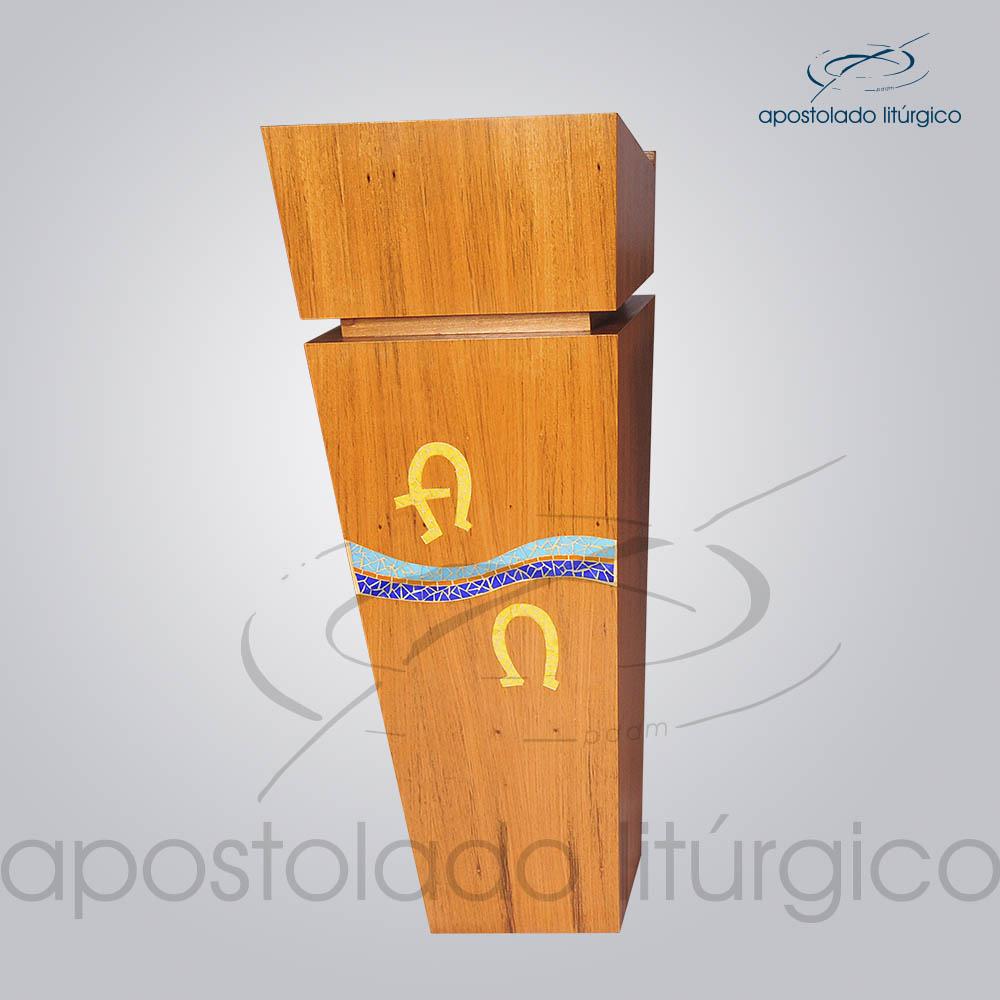 4231 Ambao Mosaico Alfa e Omega 118x32x40 cm | Apostolado Litúrgico Brasil
