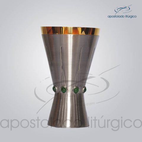 Calice Metal Latao Escovado Vida 18cm
