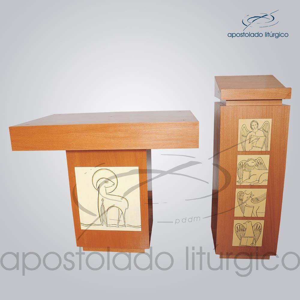 Conjunto Apocalipse II Altar COD 4220 Ambão COD 4222   Apostolado Litúrgico Brasil