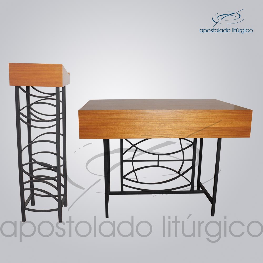 Conjunto Ferro Peixe Altar COD 4199 Ambão COD 4200 | Apostolado Litúrgico Brasil