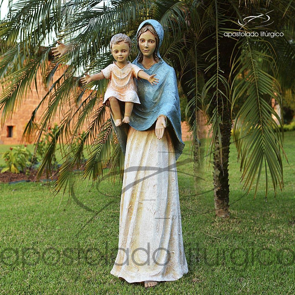 Imagem Maria do Sorriso 126cm COD4060 | Apostolado Litúrgico Brasil