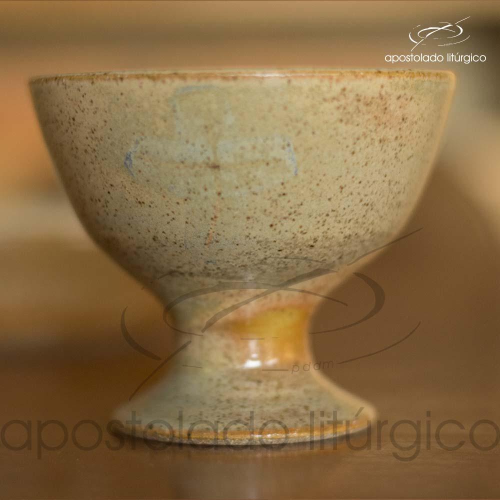 Calice Pequeno e Patena Mel com Azul Calice Frente | Apostolado Litúrgico Brasil