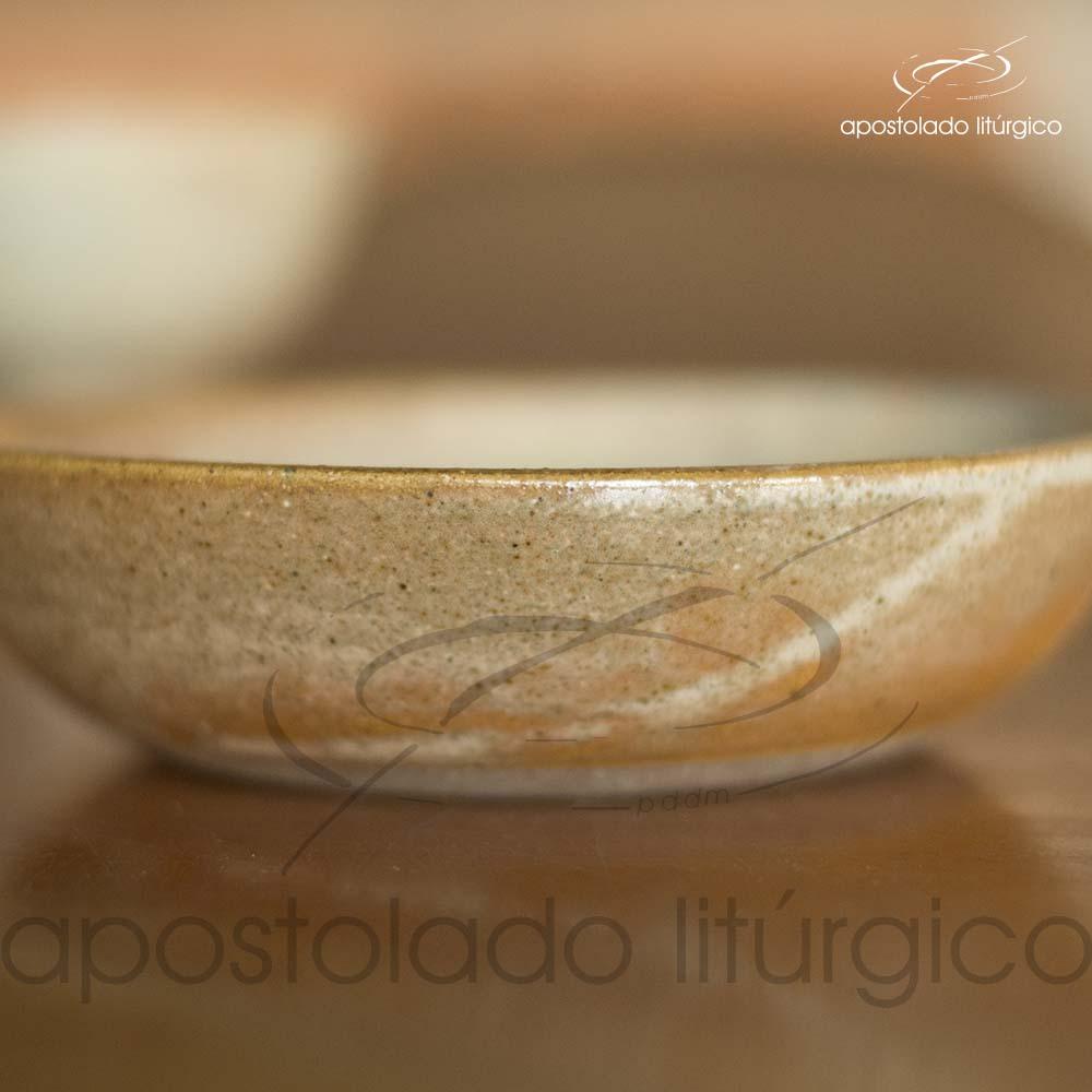 Calice Pequeno e Patena Mel com Azul Patena Lateral | Apostolado Litúrgico Brasil