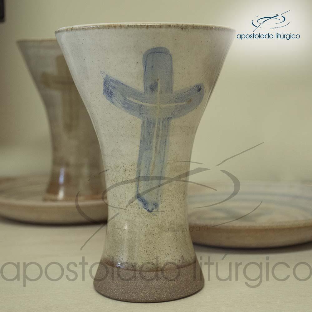 Calice Reto e Patena Mel com Azul Grande Calice | Apostolado Litúrgico Brasil