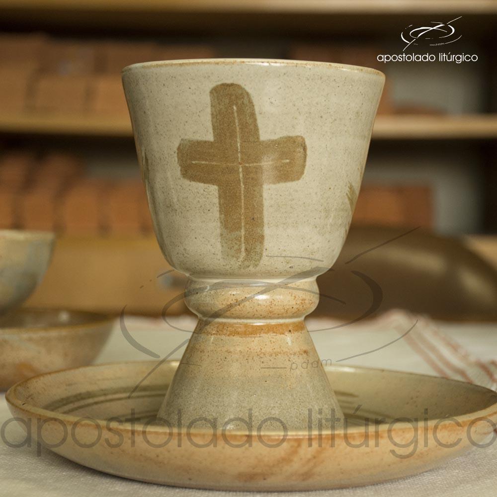 Calice com Anel Mel com Marrom Grande | Apostolado Litúrgico Brasil